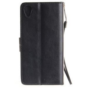Dandely PU kožené pouzdro na mobil Sony Xperia XA - černé - 2