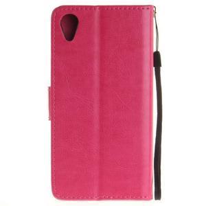 Dandely PU kožené pouzdro na mobil Sony Xperia XA - rose - 2