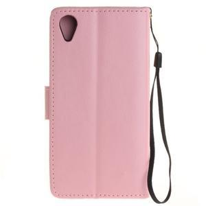 Dandely PU kožené pouzdro na mobil Sony Xperia XA - růžové - 2