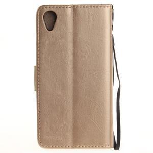 Dandely PU kožené pouzdro na mobil Sony Xperia XA - zlaté - 2