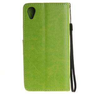 Dandely PU kožené pouzdro na mobil Sony Xperia XA - zelené - 2