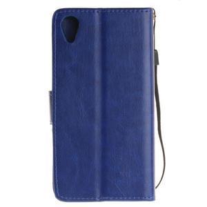 Dandely PU kožené pouzdro na mobil Sony Xperia XA - modré - 2