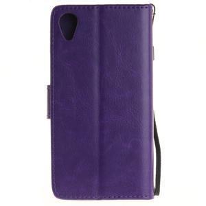 Dandely PU kožené pouzdro na mobil Sony Xperia XA - fialové - 2