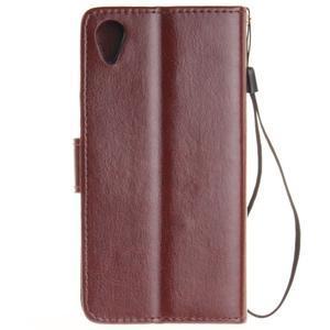 Dandely PU kožené pouzdro na mobil Sony Xperia XA - hnědé - 2