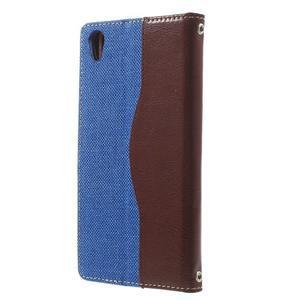 Jeansy PU kožené/textilní pouzdro na Sony Xperia XA - modré - 2