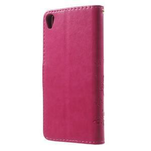 Butterfly pouzdro na mobil Sony Xperia XA - rose - 2
