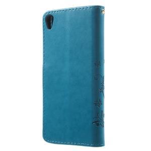 Butterfly pouzdro na mobil Sony Xperia XA - modré - 2