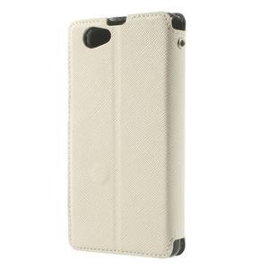 Okýnkové pouzdro na mobil Sony Xperia Z1 Compact - bílé - 2