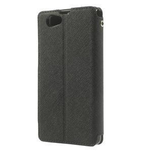 Okýnkové pouzdro na mobil Sony Xperia Z1 Compact - černé - 2
