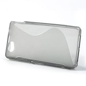 Gelové S-line pouzdro na Sony Xperia Z1 Compact - šedé - 2
