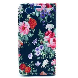 Pouzdro na mobil Sony Xperia Z1 Compact - květinová koláž - 2