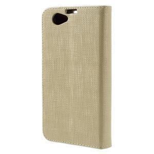 Clothy PU kožené pouzdro na Sony Xperia Z1 Compact - champagne - 2