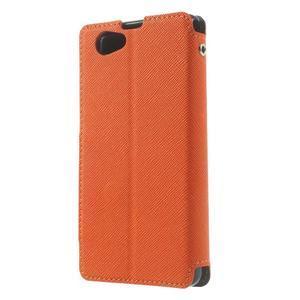 Okýnkové pouzdro na mobil Sony Xperia Z1 Compact - oranžové - 2