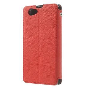 Okýnkové pouzdro na mobil Sony Xperia Z1 Compact - červené - 2