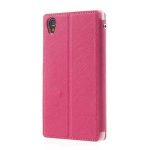 Okýnkové pouzdro na mobil Sony Xperia Z1 - rose - 2