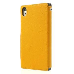 Okýnkové pouzdro na mobil Sony Xperia Z2 - žluté - 2