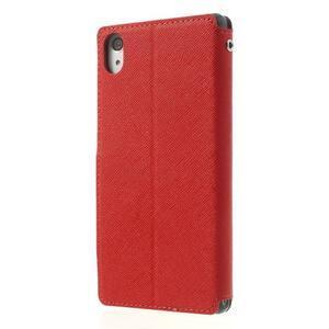 Okýnkové pouzdro na mobil Sony Xperia Z2 - červené - 2