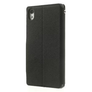Okýnkové pouzdro na mobil Sony Xperia Z2 - černé - 2