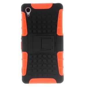 Outdoor odolný kryt na mobil Sony Xperia Z2 - oranžový - 2