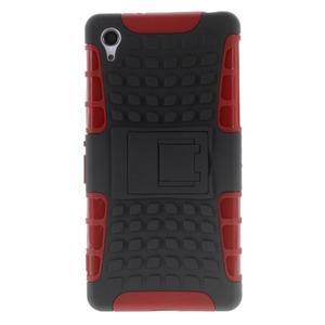 Outdoor odolný kryt na mobil Sony Xperia Z2 - červený - 2