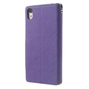 Okýnkové pouzdro na mobil Sony Xperia Z2 - fialové - 2