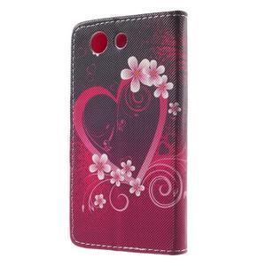 Pictu peněženkové pouzdro na Sony Xperia Z3 Compact - srdce - 2