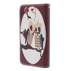 Knížkové pouzdro na mobil Sony Xperia Z3 Compact - zamilovaní ptáčci - 2