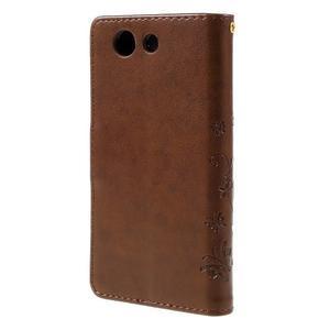 Butterfly PU kožené pouzdro na mobil Sony Xperia Z3 Compact - hnědé - 2