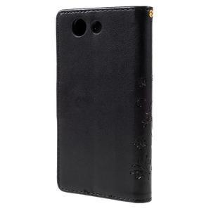 Butterfly PU kožené pouzdro na mobil Sony Xperia Z3 Compact - černé - 2