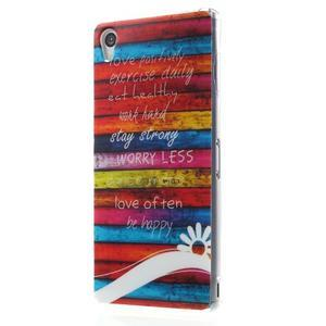 Gelový obal na mobil Sony Xperia Z3 - barvy dřeva - 2
