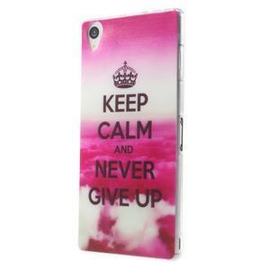 Ultratenký gelový obal na mobil Sony Xperia Z3 - Keep Calm - 2