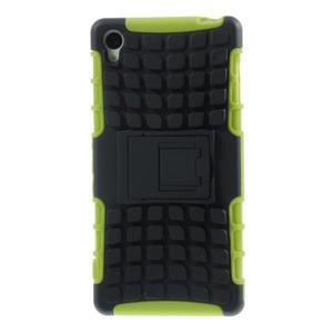 Outdoor ochranný kryt na mobil Sony Xperia Z3 - zelený - 2