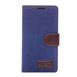 Jeans knížkové pouzdro na mobil Sony Xperia Z3 - tmavěmodré - 2