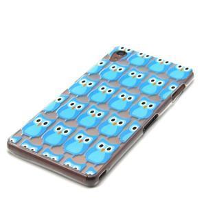 Gelový obal na mobil Sony Xperia Z3 - modré sovičky - 2