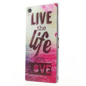 Ultratenký gelový obal na mobil Sony Xperia Z3 - love - 2