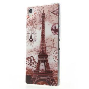 Ultratenký gelový obal na mobil Sony Xperia Z3 - Eiffelova věž - 2