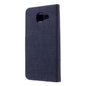 Cloth peněženkové pouzdro na mobil Samsung Galaxy A3 (2016) - tmavěmodré - 2