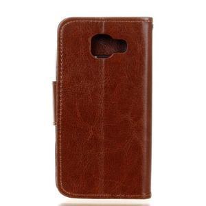 Hoor PU kožené pouzdro na mobil Samsung Galaxy A3 (2016) - hnědé - 2