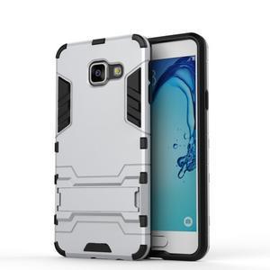Outdoor odolný kryt na mobil Samsung Galaxy A3 (2016) - stříbrný - 2