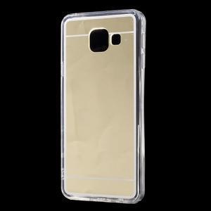 Zrcadlový gelový kryt na Samsung Galaxy A3 (2016) - zlatý - 2