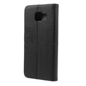Liched koženkové pouzdro na Samsung Galaxy A3 (2016) - černé - 2