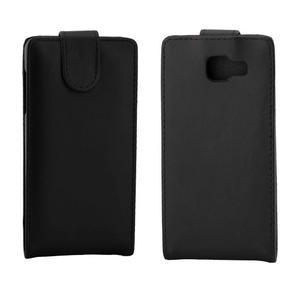 Flipové pouzdro na mobil Samsung Galaxy A3 (2016) - černé - 2