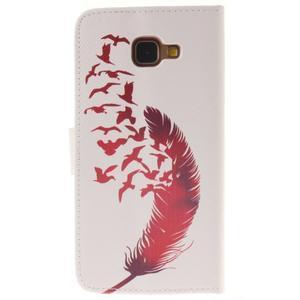 Pouzdro na mobil Samsung Galaxy A3 (2016) - červené peříčko - 2