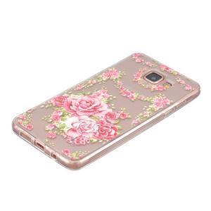 Slim průhledný gelový obal na Samsung Galaxy A3 (2016) - růže - 2