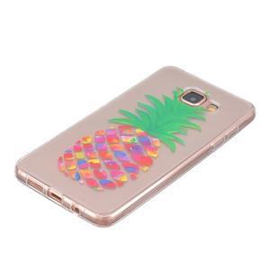 Slim průhledný gelový obal na Samsung Galaxy A3 (2016) - ananas - 2