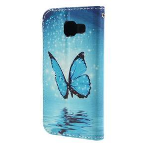Standy peněženkové pouzdro na Samsung Galaxy A3 (2016) - motýl - 2