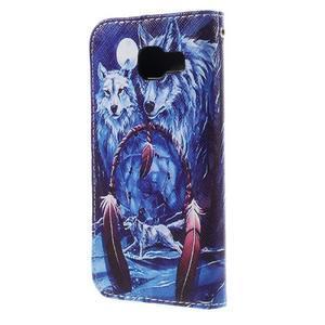 Standy peněženkové pouzdro na Samsung Galaxy A3 (2016) - vlci - 2