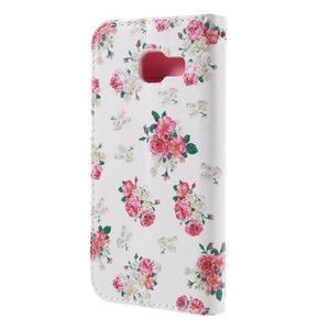 Standy peněženkové pouzdro na Samsung Galaxy A3 (2016) - květiny - 2