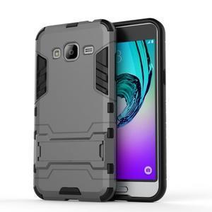 Outdoor odolný obal na Samsung Galaxy J3  (2016)- šedé - 2