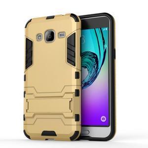 Outdoor odolný obal na Samsung Galaxy J3  (2016) - zlaté - 2
